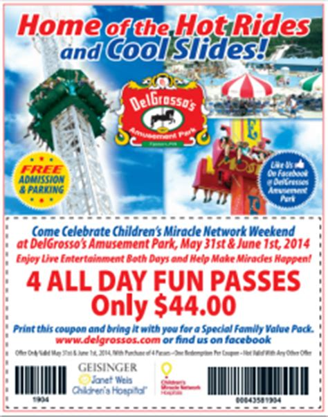 30598 Operation Parts Coupon Code by Delgrosso S Amusement Park Coupons Savings And Theme Park