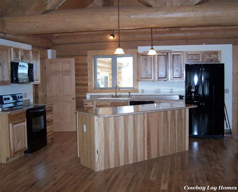 kitchen cabinets and counter tops cowboy log homes