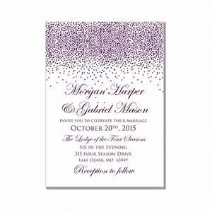 printable wedding invitation purple wedding purple With wedding invitation format in ms word