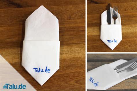 servietten als bestecktasche falten servietten zu bestecktaschen falten diy serviettentasche