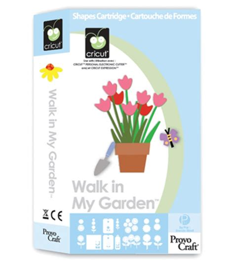 Provo Craft Cricut Shape Cartridge  Walk In My Garden