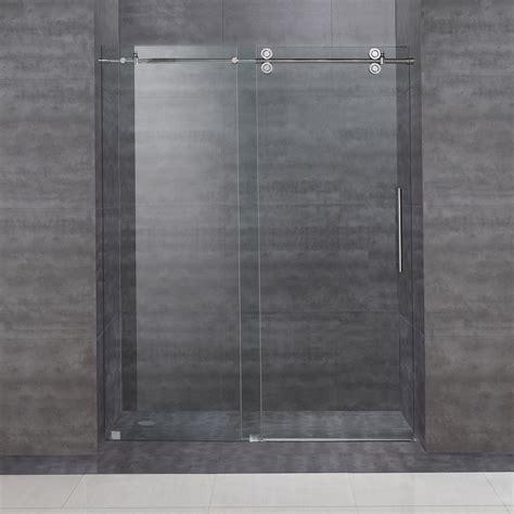 frameless sliding shower door aston sdr978 60 in frameless sliding shower door atg stores