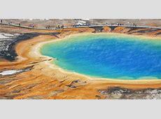 Yellowstone Nationalpark Vulkan Steg Besucher bullsh!ft