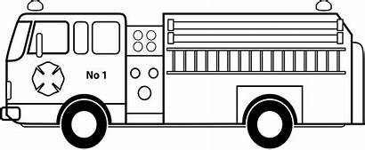 Fire Truck Clipart Firetruck Engine Coloring Printable