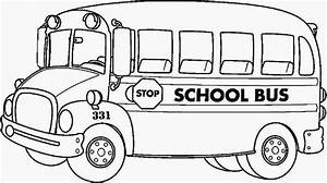 bus to draw coloring pages