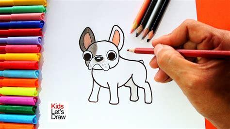 como dibujar  perro bulldog frances facil youtube