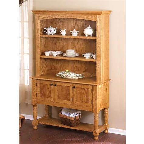 classic country oak hutch woodworking plan  wood magazine