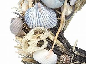 Deko Muscheln Kaufen : kranz t rdeko tischdeko deko sommer garten muscheln blau natur maritim natur deko shop ~ Orissabook.com Haus und Dekorationen