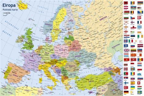 Eiropas politiskā karte. Puzle bērniem - Karšu ...