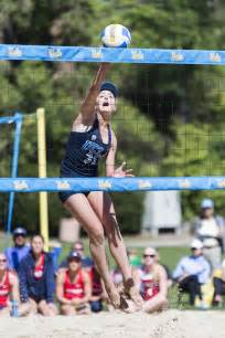 ucla beach volleyball twins defeat top ranked pepperdine