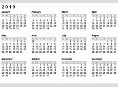 Free Yearly Printable 2019 Calendar PDF Template April