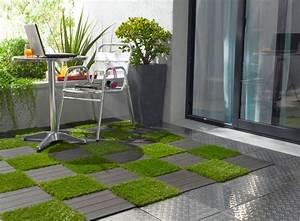 Gazon Artificiel Balcon : carrelage exterieur sol terrasse ou toit ~ Edinachiropracticcenter.com Idées de Décoration