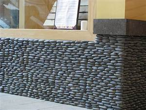 Zen Paradise Standing Pebble Tile Installations - santa
