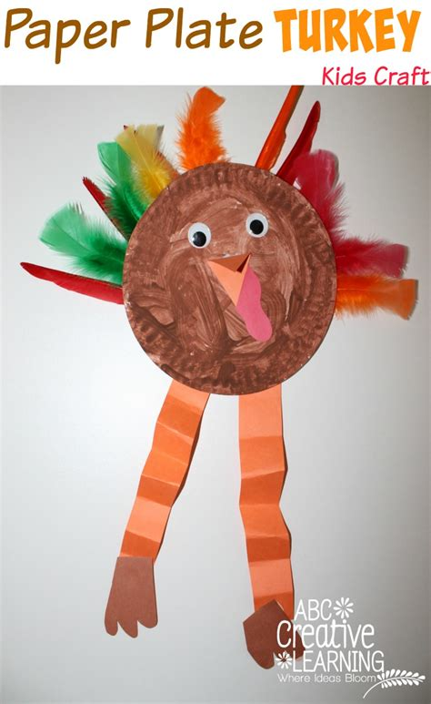 thanksgiving crafts for toddlers paper plate turkey craft 5563