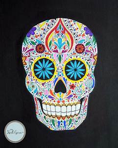 colorful skulls - 28 images - 1000 ideas about skull ...