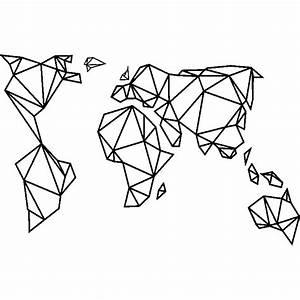 Carte Du Monde Sticker : sticker design origami carte du monde stickers villes et voyages carte du monde ambiance sticker ~ Dode.kayakingforconservation.com Idées de Décoration