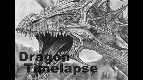 dragon time lapse pencil drawing youtube