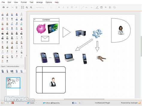 drawio diagram drawing app  workflow bpm charts