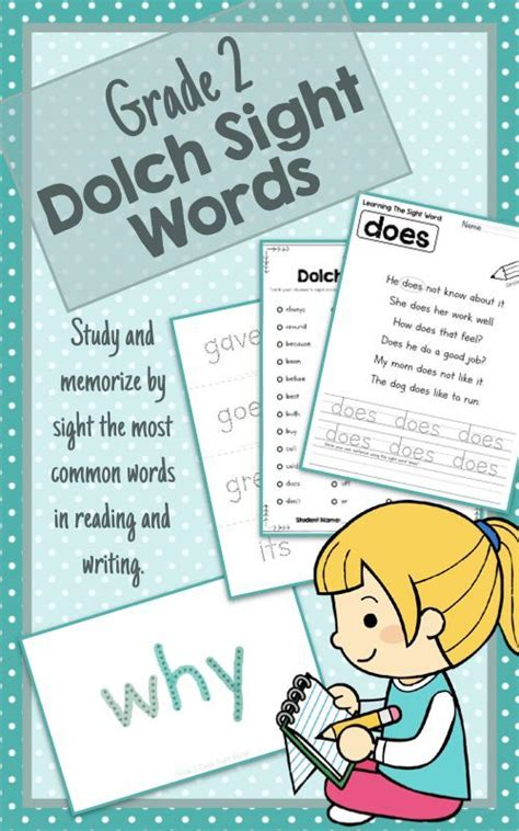 dolch grade  sight words flashcards worksheets