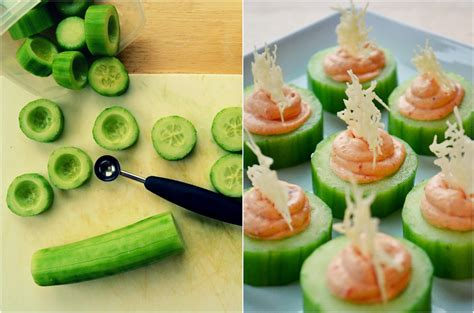 cucumber canapes family feedbag cucumber canapés with 2 cheese fillings