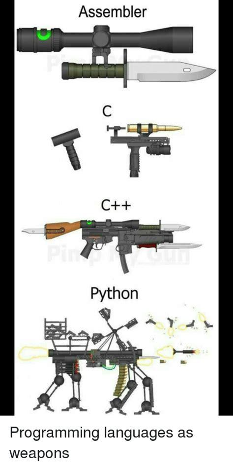 python assembler programming memes meme weapons anime languages programmer save