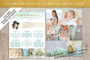 Photography Pricing Guide Template for Adobe Photoshop - Layered PSD Template - Design #1