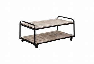Meuble Tv Industriel Bois Metal : meuble tv en bois patin vieilli brut industriel en m tal sur roule ~ Teatrodelosmanantiales.com Idées de Décoration