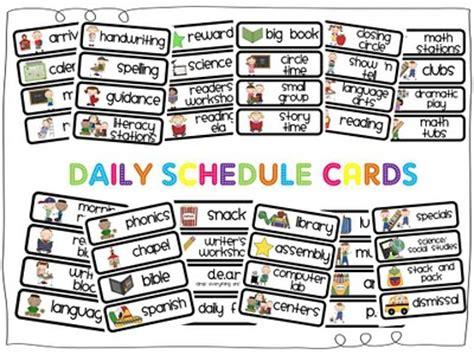 preschool schedule cards mrs p s kindergarten daily schedule cards 882