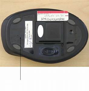 1001 Mouse With Bluetooth Transceiver Label Diagram Label