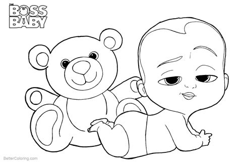 boss baby coloring pages   bear  printable