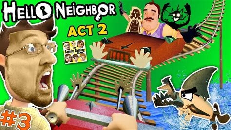 escape hello neighbor prison fgteev act 2 roller