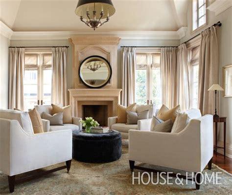 symmetrical living room house home