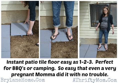 patio tile floor in less than 30 min diy mothers day