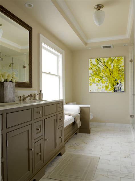gray  yellow bathroom contemporary bathroom