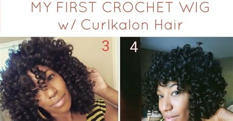 [video] 2 Versions Of My First Crochet Wig W/ Curlkalon Hair