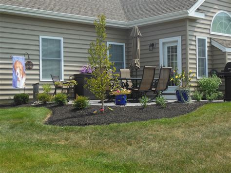 landscape around patio landscape design manheim pa keystone lawn company