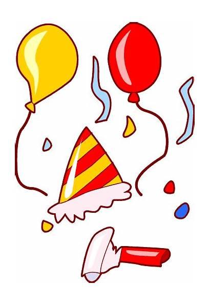 Clip Party Clipart Birthday Cliparts Balloons Celebration