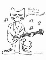 Pete Cat Shoes Coloring Visit Rocking Winter sketch template