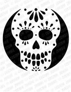 Skull Pumpkin Carving Templates Free by Pumpkin Stencil Sugar Skull Carving Crafts Downloadable