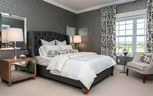 Graue Tapete Schlafzimmer : mehr als 150 unikale wandfarbe grau ideen ~ Michelbontemps.com Haus und Dekorationen