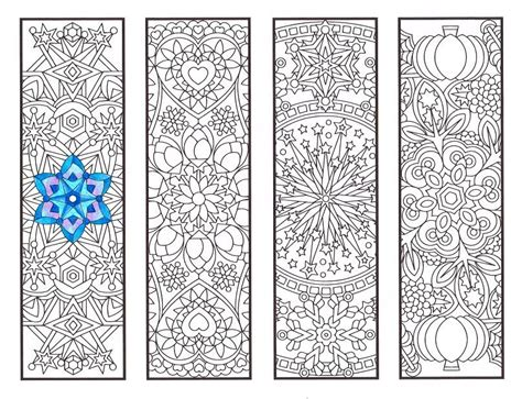 coloring bookmarks cool weather mandalas coloring page for