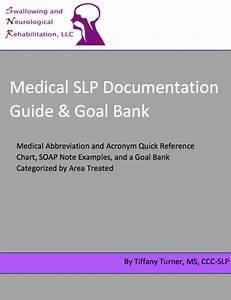 Medical Slp Documentation Guide And Goal Bank