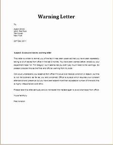 Warning Email To Employee Letters – Free Sample Letters