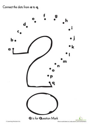 alphabet dot to dot q worksheet education 507 | alphabet dot dot the alphabet