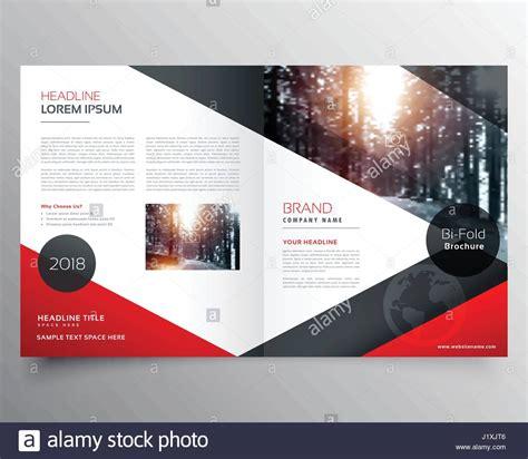 creative red  black bifold brochure  magazine cover