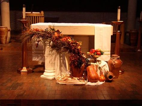 Thanksgiving Church Decorations