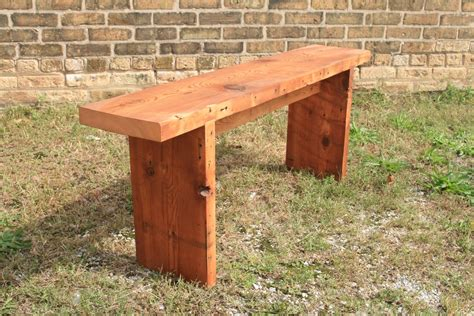woodwork   build  simple wooden bench  plans