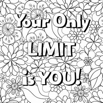 Coloring Pages Word Inspirational Printable Quotes Getcoloringpages