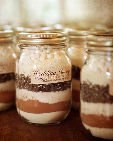 Hot Cocoa In Mason Jar Diy Wedding Favor Wedding Favors
