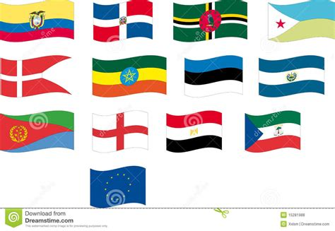 countries with the letter a flag set part 4 12 letter d and e royalty free stock 19501